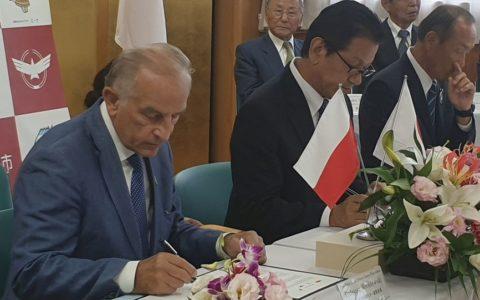 Japońskie miasta pomagają polskim zawodnikom wprzygotowaniach doIgrzysk Olimpijskich wTokio (18 września 2019)