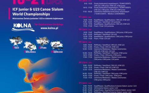 Mistrzostwa Świata Juniorów iU23 wslalomie kajakowym Kraków 2019 (15 lipca 2019)